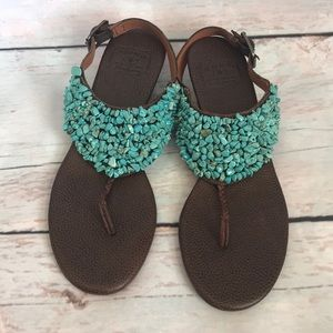 Lucy Brand turquoise sandals